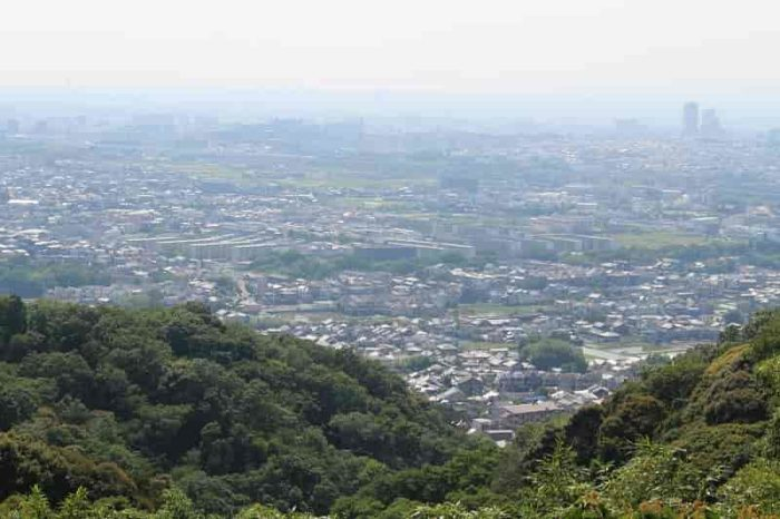 展望台から眺める大阪市街の景色です。