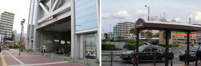 南海本線の堺駅東口です。