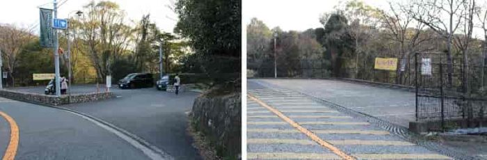 『諏訪山展望台』の無料駐車場です。