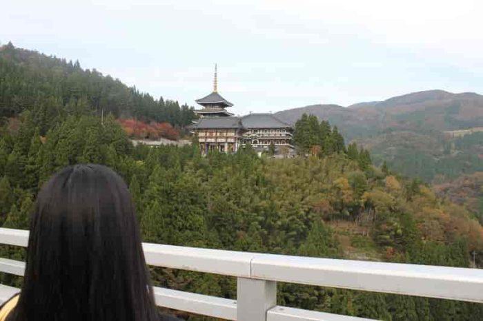 『長楽寺』は山の中腹にあります。