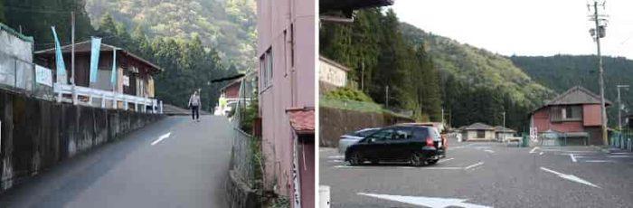谷瀬の吊り橋の有料駐車場です。