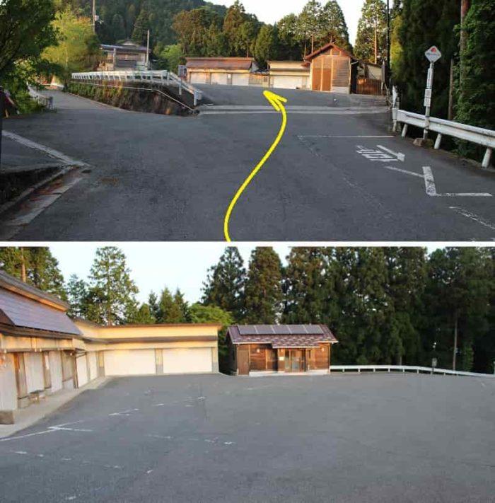 立里荒神社に用意されている無料駐車場です。