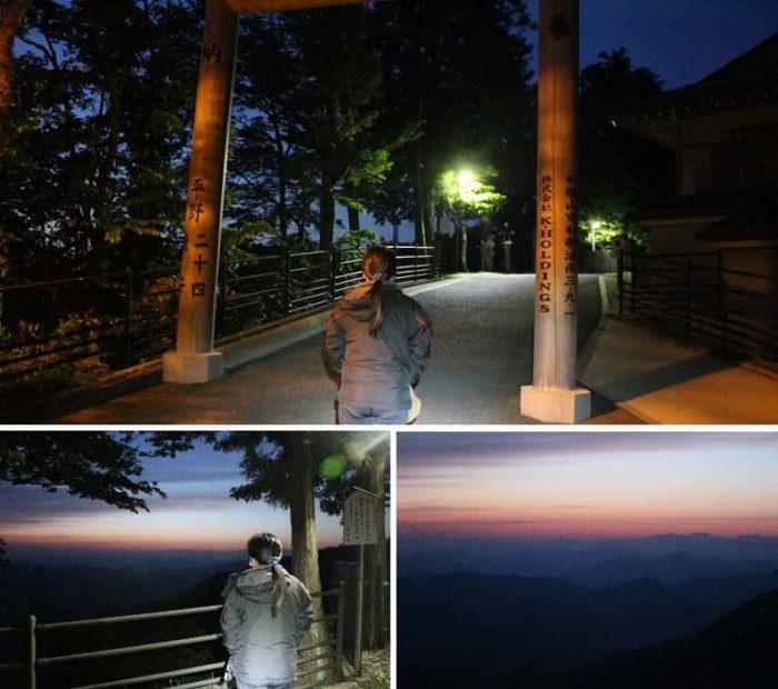 立里荒神社の雲海観賞ポイントです。