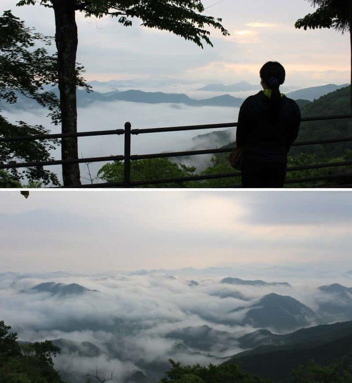 立里荒神社より望む神秘的な雲海です。
