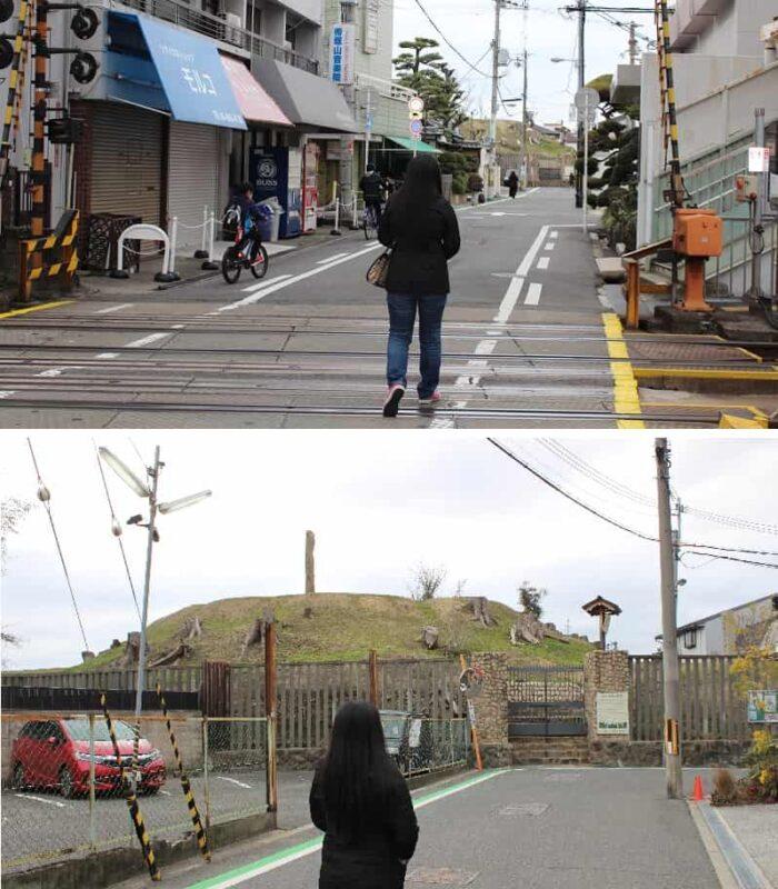 帝塚山駅で下車して西方面に約100mです。