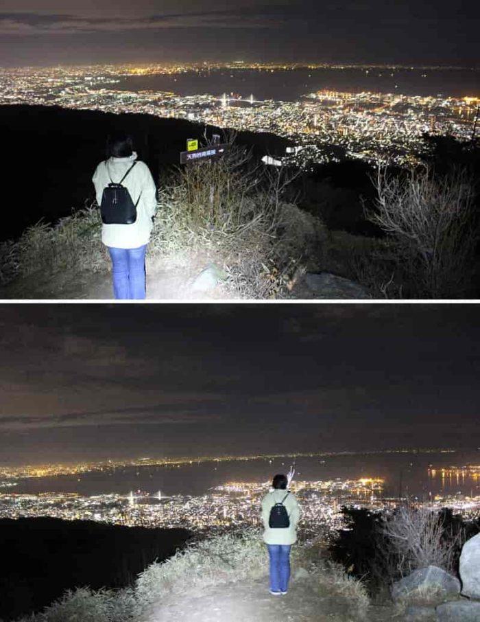 天狗岩から望む1000万ドルの夜景です。