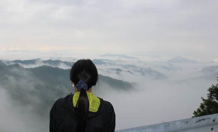 天狗木峠で望む開運・青龍雲海です。
