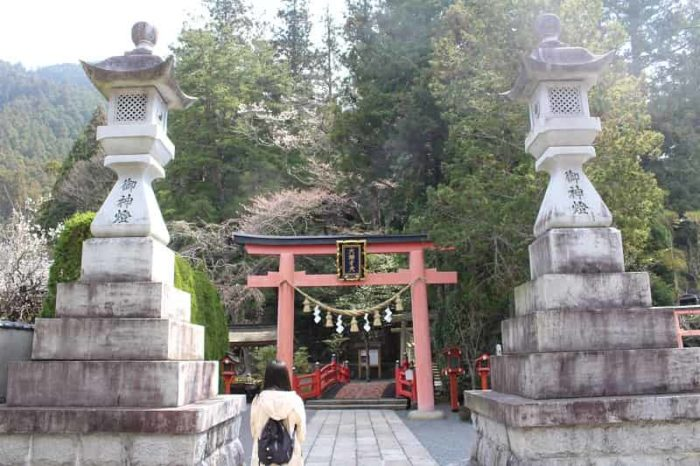 天川村にある天河大弁財天社です。