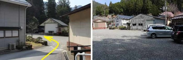 天河大弁財天社にある無料駐車場です。