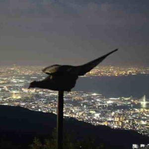 天覧台より眺めた夜景です。