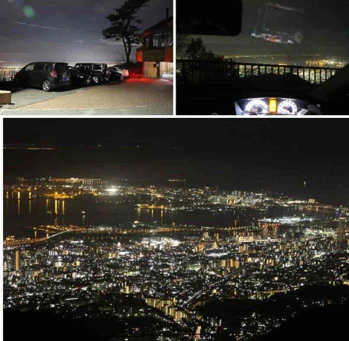 車中より夜景を観賞できます。