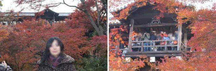 通天橋と紅葉の景色です。
