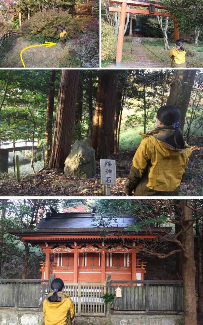 鳥見神社の境内に鎮座するお社です