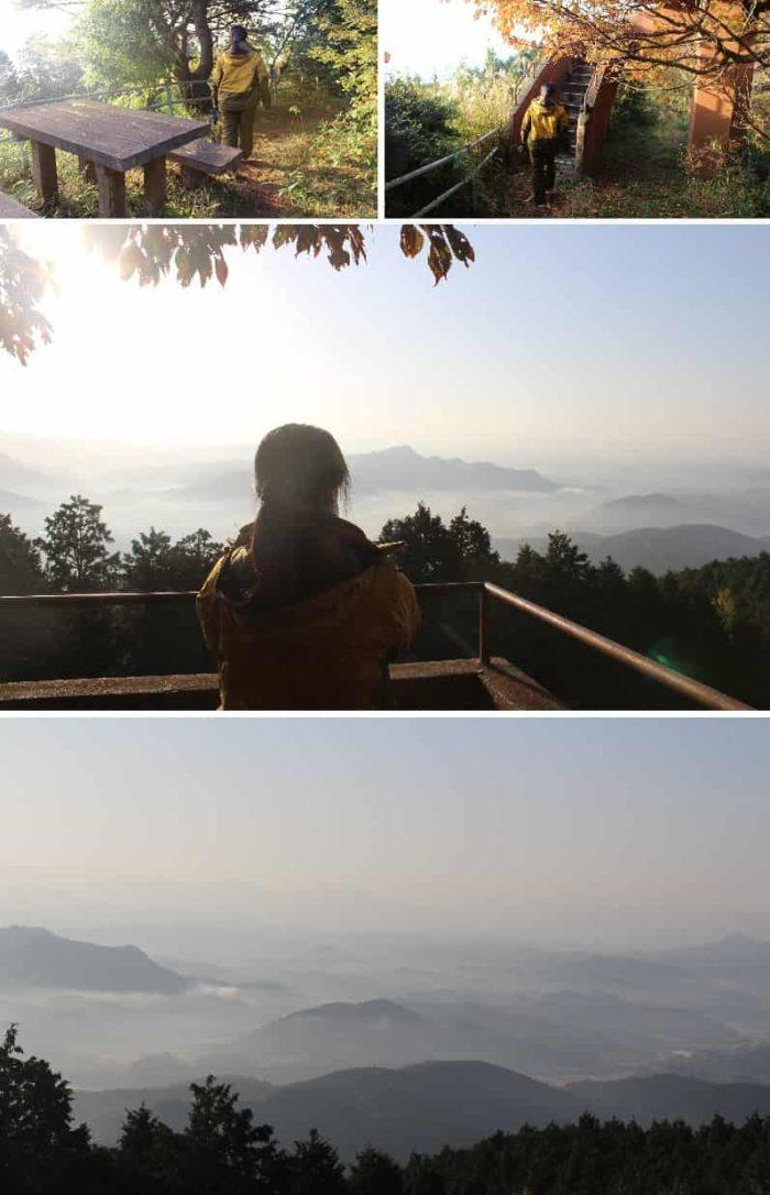 展望台より望む雲海の景色です。