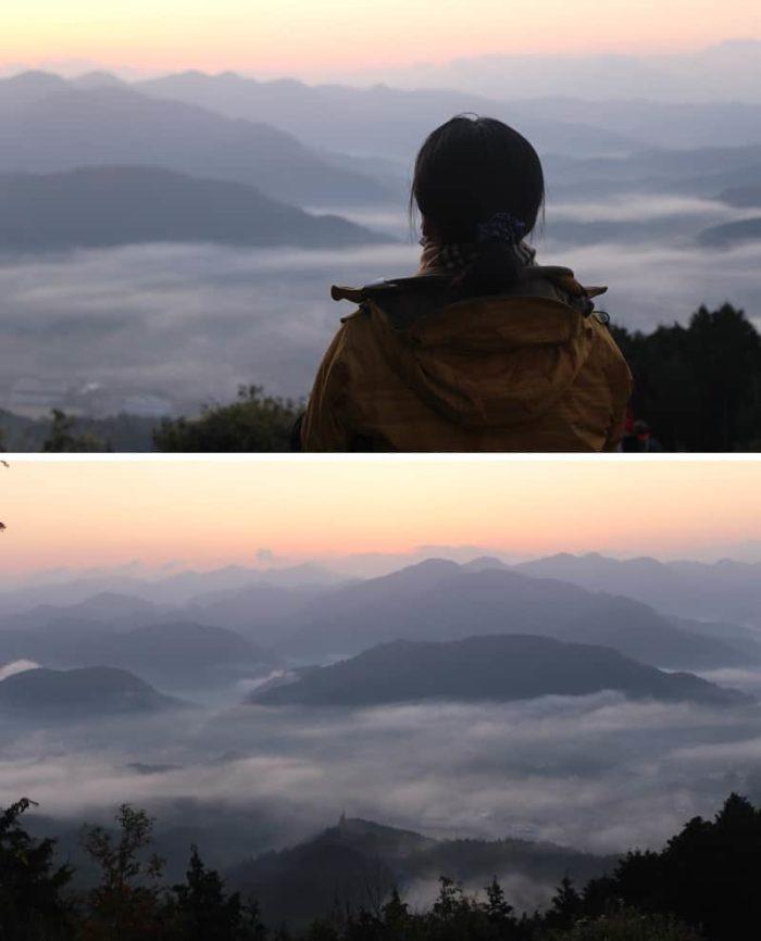 鳥見山公園の晴見台より眺める雲海です。
