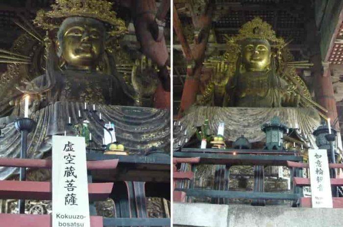 虚空蔵菩薩像と如意輪観音像です。