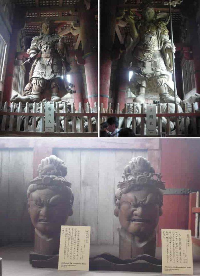 大仏殿に鎮座する『四天王像』です。