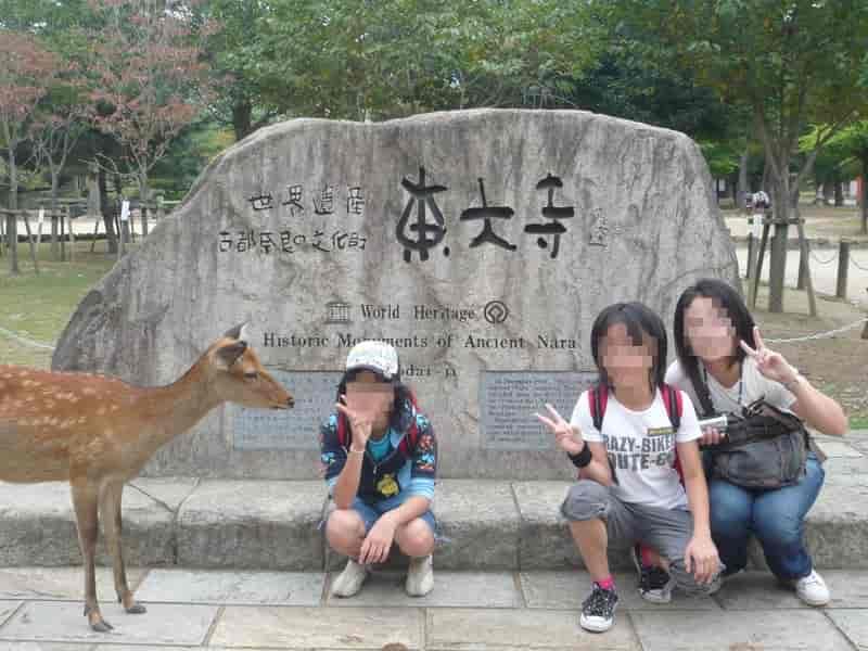 東大寺の世界遺産の記念の石碑です。