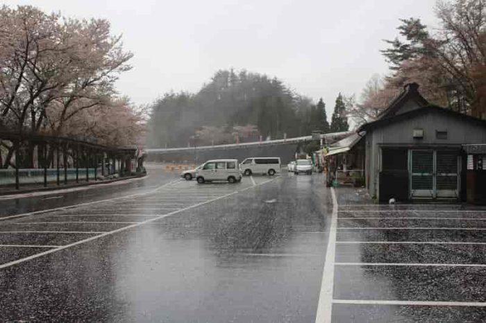 つづら尾崎展望台の駐車場です。