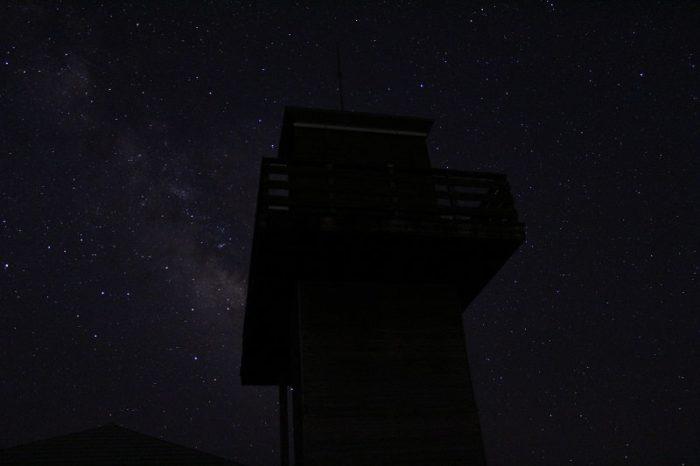 鶴姫公園展望台より望む星空です。
