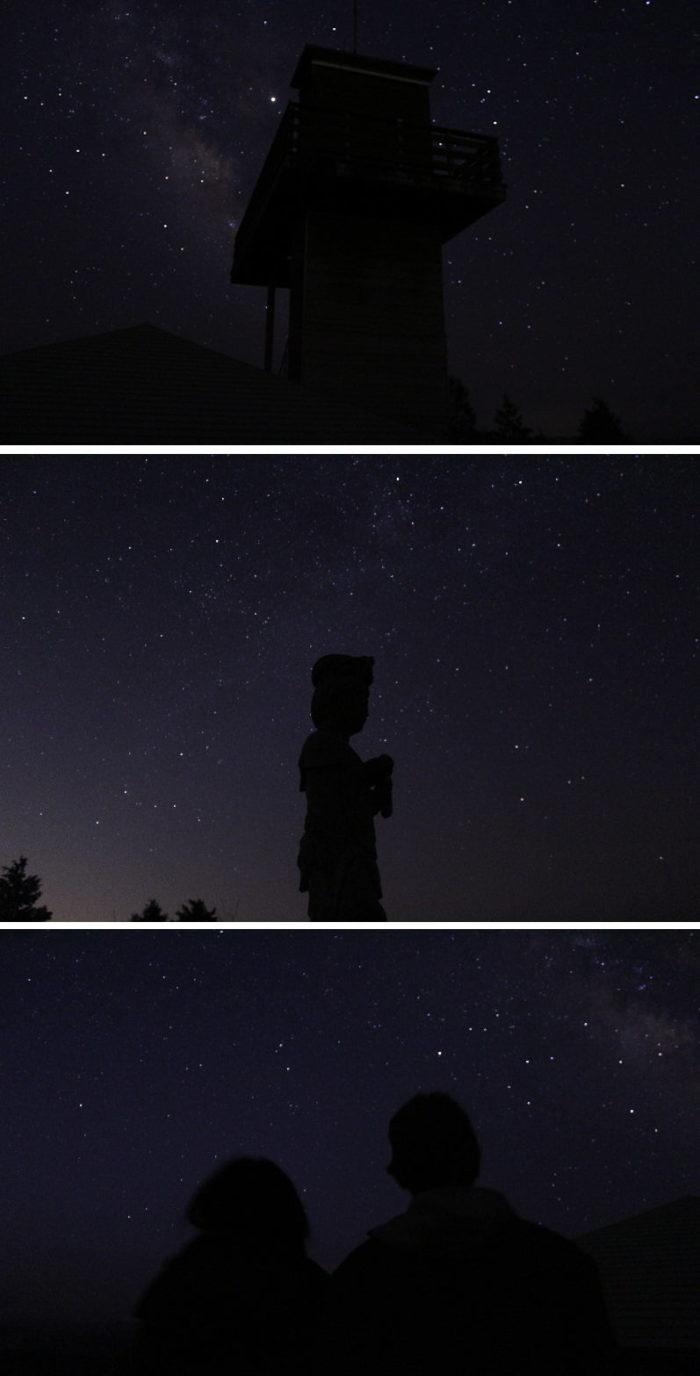 鶴姫公園展望台より望んだ星空です。