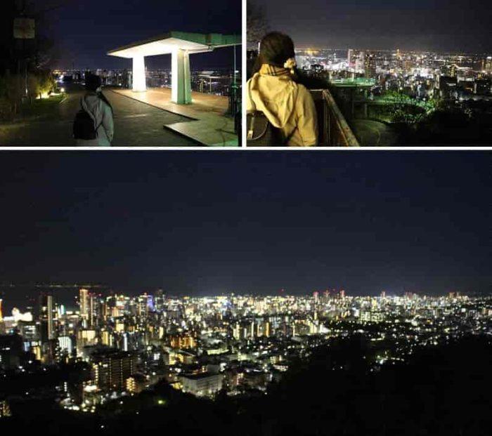 眼下に広がる神戸の夜景です。