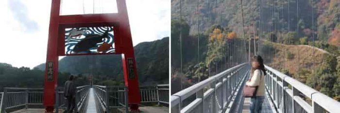 スリルを楽しめる吊り橋です。