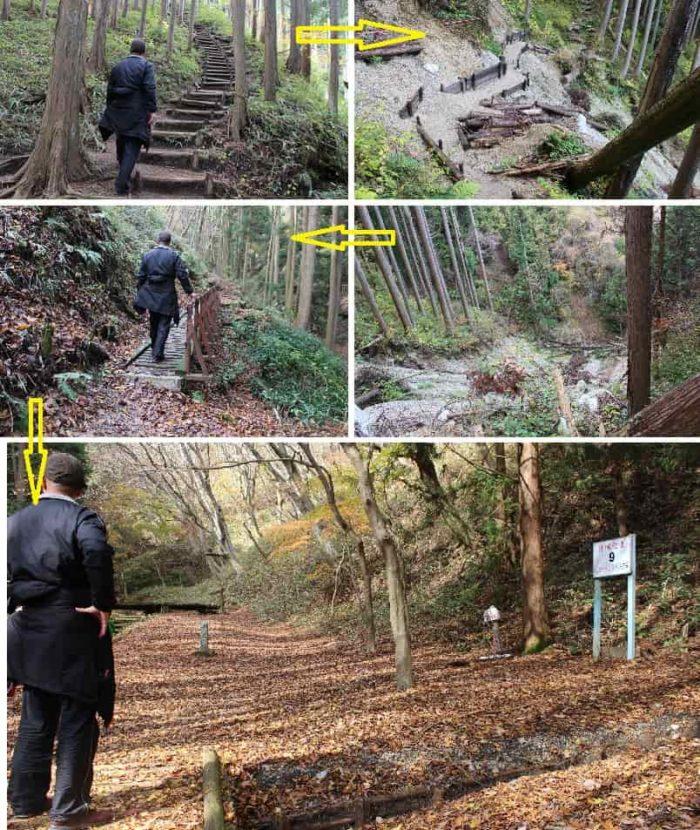 櫛羅の滝コース「目標位置9」です。