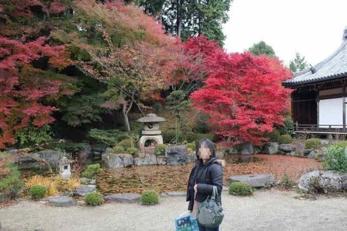 奥の院『薬師堂』付近の紅葉です。