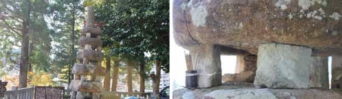 日本三古塔のひとつ『五輪の石塔』です。