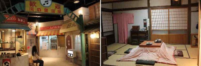 昭和の懐かしい街並みを再現されています。