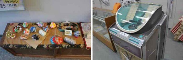 昔のブリキのおもちゃや電化製品です。