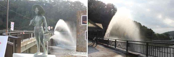 ゆ~らぎ橋にある大噴水装置です。