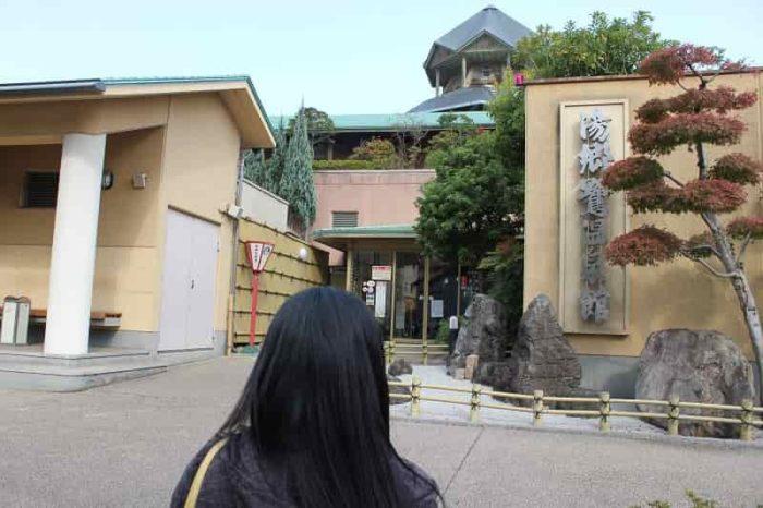 日帰り入浴施設の『湯郷鷺温泉館』です。